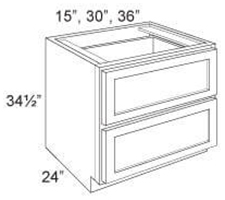 Base Cabinet 2 Drawers