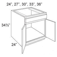 Base Cabinet Sink 2 Doors