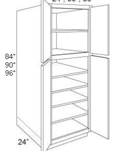 "Pantry Cabinet 24"" Deep 4 Door"