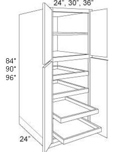 Pantry Cabinet Roll Out Tray 4 Door