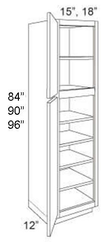 Pantry Standard 12 Deep 2 Door Rccarpentry