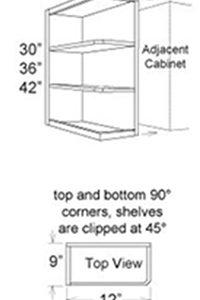 Cabinet Upper Special Shelf End