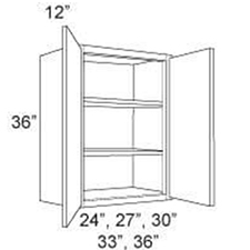 "Cabinet Upper 36"" High 2 Door"