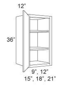 "Cabinet Upper 36"" High 1 Door"