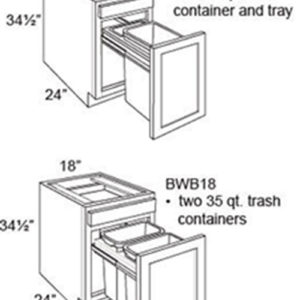 Base Cabinet Waste Basket