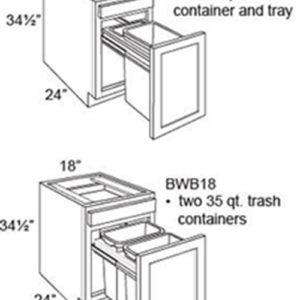 Base Cabinet Waste Basket