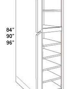 "Pantry Cabinet 24"" Deep 2 Doors"