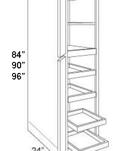 Pantry Cabinet Roll Out Tray 2 Door