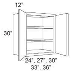 "Cabinet Upper 30"" High 2 Door"