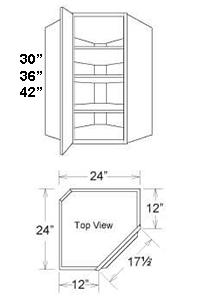 Upper Cabinet Corner 1 Door