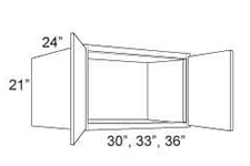 "Cabinet Upper Refrigerator 21"" High"