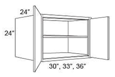 "Cabinet Upper Refrigerator 24"" High"