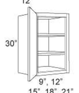 "Cabinet Upper 30"" High 1 Door"