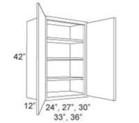 "Cabinet Upper 42"" High 2 Door"