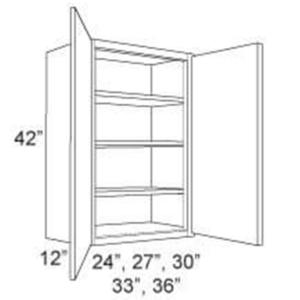 """Cabinet Upper 42"""" High 2 Door"""